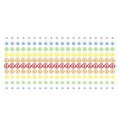 chargeback pound shape halftone spectral pattern vector image