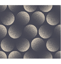 Circles stippled seamless pattern aesthetic vector