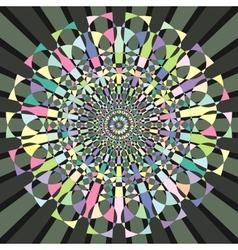 Circular decorative geometric pattern vector