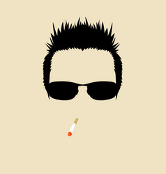 cool guy vector image