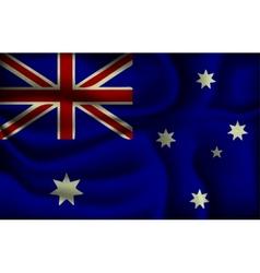 crumpled flag australia vector image