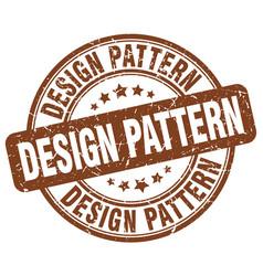 Design pattern brown grunge stamp vector