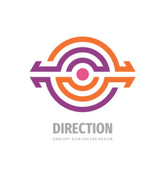 Direction arrows - business logo design strategy vector