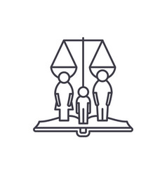 Family rights line icon concept family rights vector