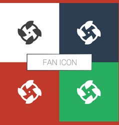 Fan icon white background vector