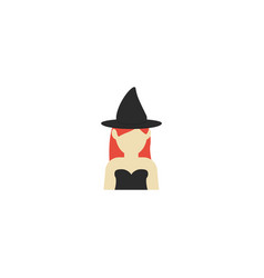 flat icon witch element of vector image