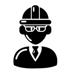 Foreman icon simple black style vector