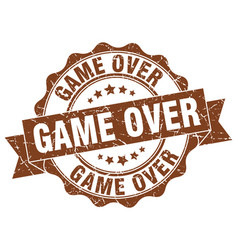 game over stamp sign seal vector image