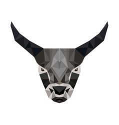 goat head low poly isolated icon vector image