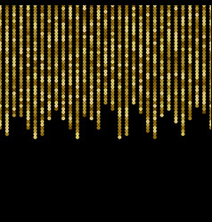Gold sequins luxury seamless border vector