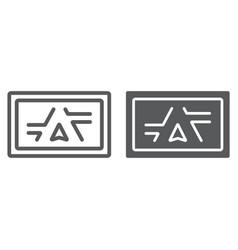 gps navigator line and glyph icon electronic vector image