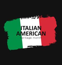 Hand draw italian american heritage flag in vector