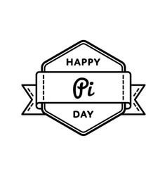 Happy Pi day greeting emblem vector image