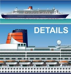 hi-detailed cruise ship vector image