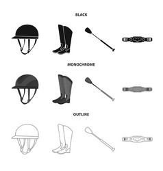isolated object of equipment and riding logo vector image