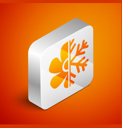 isometric air conditioner icon isolated on orange vector image