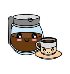 kettle kitchenware utensil kawaii cute cartoon vector image