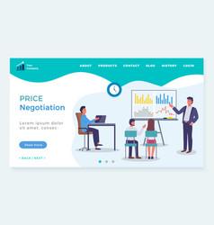 Landing page business website price vector