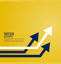 Leading arrow concept for business presentation vector
