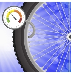 Manometer and part of bicycle wheel vector