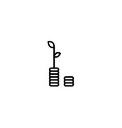 money grow icon vector image