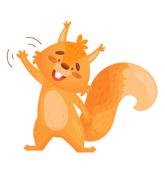 Of friendly little squirrel vector