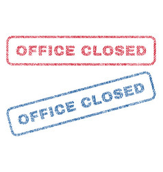 Office closed textile stamps vector