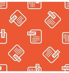 Orange DOC file pattern vector image