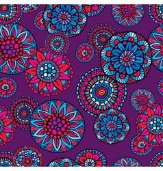 Ornamental fantasy floral seamless pattern vector image vector image