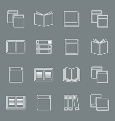 Outline book icon vector