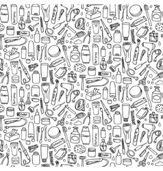 Personal care seamless pattern vector
