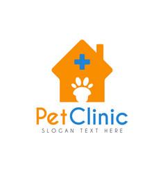 Pet clinic hospital logo icon symbols and app vector