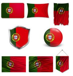 Portugal flag flag symbol banner vector