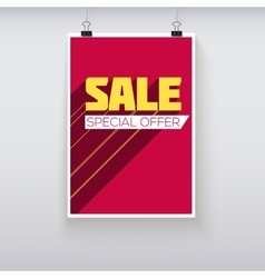 Sale Poster with Long Shadow vector