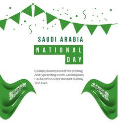 Saudi arabia national day template design vector