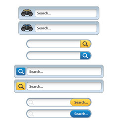 search bar for ui - ux design and web site vector image