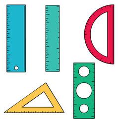 Set of ruler vector