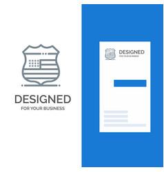 shield sign usa security grey logo design and vector image