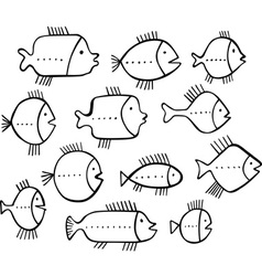 Shoal of fishes vector image