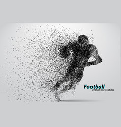 Silhouette a football player from particle vector