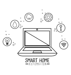 smart home automation tech vector image