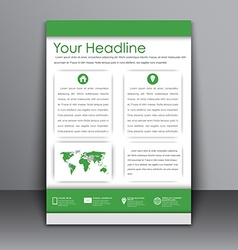 Template flyer with information for advertising vector image
