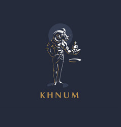 the egyptian god khnum vector image