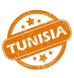 Tunisia grunge icon vector
