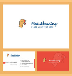 Turkey logo design with tagline front and back vector