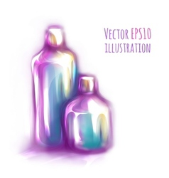 two bottles on white vector image