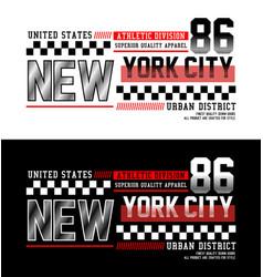 Typography new york city 86 t-shirt graphics vector