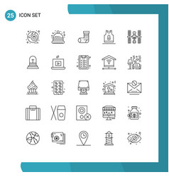 Universal icon symbols group 25 modern lines vector
