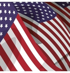 Usa patrotism culture blue red icon vector image