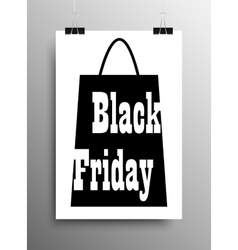 Vertical Poster A4 Black Friday Sale Discount vector